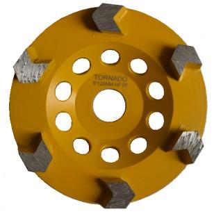25 Grit Yellow 5' 125mm x 6 Arrow Seg