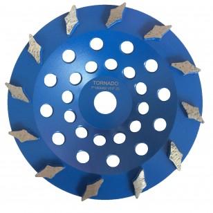 25 Grit Blue 7' 180mm x 12 Diamond Seg
