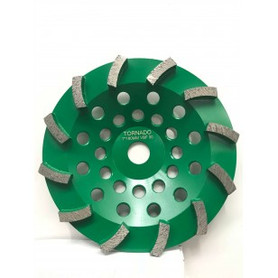 30 Grit Green 7' 180mm x 12 Seg
