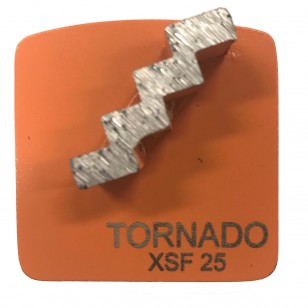 9pk 25 Grit Orange Step Single Seg