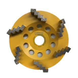 25 Grit Yellow 5' 125mm x 6 Step Seg