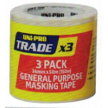 General Purpose Tape 36mm x 50m 3 Pack