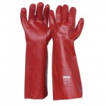 Red PVC Gloves Long 45cm