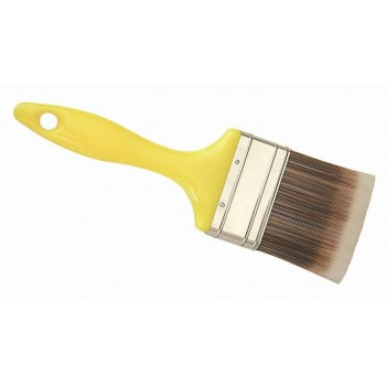 100pk Yellow Handle Paint Brush 75mm